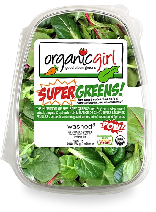 Product of leaf lettuce in Organic Girl package